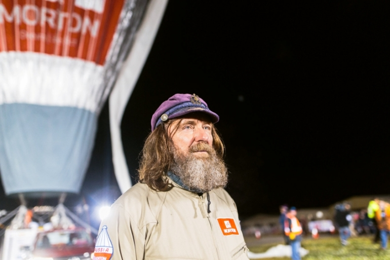 Russian adventurer Konyukhov broke the record for the fastest flight around the world in a hot air balloon [Reuters]