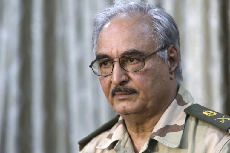 Libyan General Khalifa Haftar has urged the West to send him weapons in the past [Reuters]