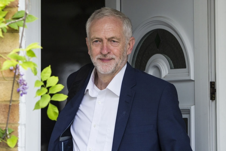 Labour leader Jeremy Corbyn leaves his home in Islington, London [Jack Taylor/Getty Images]