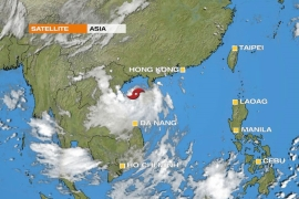 Tropical Storm Mirinae barrels across southwest China