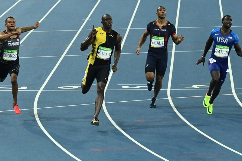 Bolt still has a chance to add to his 100m gold - in the 200m and 4x1000m relay [AFP]
