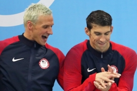 Lochte, left, was part of the US squad that won the 4x200m freestyle relay at Rio 2016 [EPA]