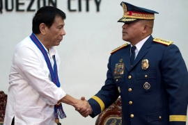 Duterte has threatened to declare martial law if the judiciary interferes with his 'drug war' [Reuters]