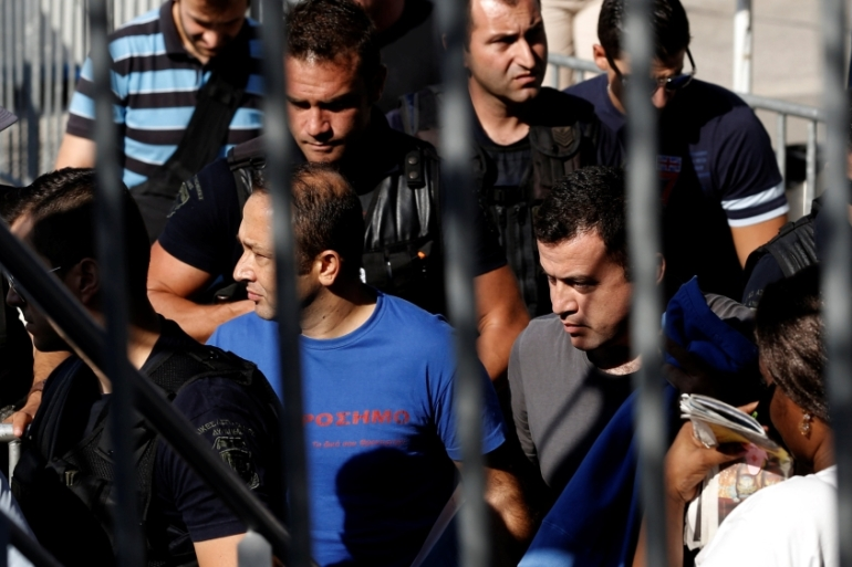 The soldiers' asylum hearings are to begin in Greece on Friday [Reuters]