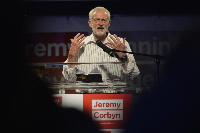 Corbyn is favourite to stay on as Labour Party leader [EPA]