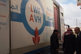 The Diabetes Care Center says its mobile clinic has reached hundreds of thousands of Palestinians in the occupied West Bank [Paul Velo/Al Jazeera]