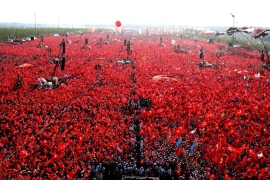 President Erdogan and opposition unite in Turkey rally