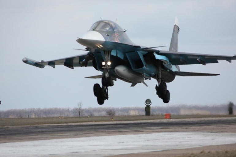The Su-34 is Russia's newest ground attack aircraft [File: Olga Balashova/AP]