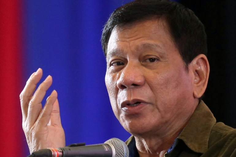 Duterte had promised to re-impose the death penalty during his campaign [File: Lean Daval Jr/Reuters]