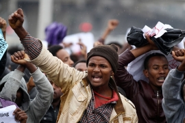 Saturday's rally was the first to be held in Addis Ababa after a series of Oromo and Amhara protests elsewhere [Reuters]
