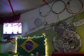 The ABCD Restaurant set up for the Olympic Games' opening ceremony [Donna Bowater/Al Jazeera]