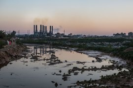 The Gaza power plant, which was bombed in 2006 and 2014, depends on gas coming from the Kerem Shalom crossing with Israel. [Sebastien Leban/Al Jazeera]