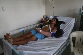 Santiago was taken to the hospital by police following his 'rise from the dead' [Ted Regencia/Al Jazeera]