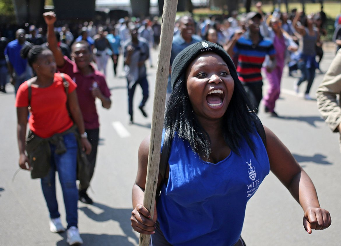 University classes across South Africa have been disrupted by fee protests. [Siphiwe Sibeko/Reuters]