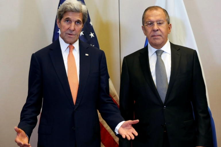Top US and Russian diplomats have been trying hard to hammer out a ceasefire deal [Reuters]