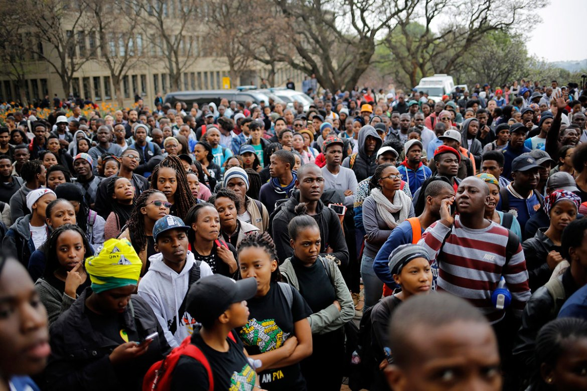 The prestigious University of Witwatersrand in Johannesburg has been a focal point of protests. [Kim Ludbrook/EPA]