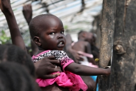"After a visit to South Sudan earlier this month, the UN said hunger has reached ""unprecedented"" levels [AP]"