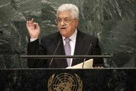 Palestinian President Abbas addressing the UN General Assembly [Mike Segar/Reuters]
