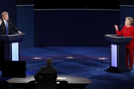 Monday's debate was expected to be watched by 100 million Americans [Adrees Latif/Reuters]