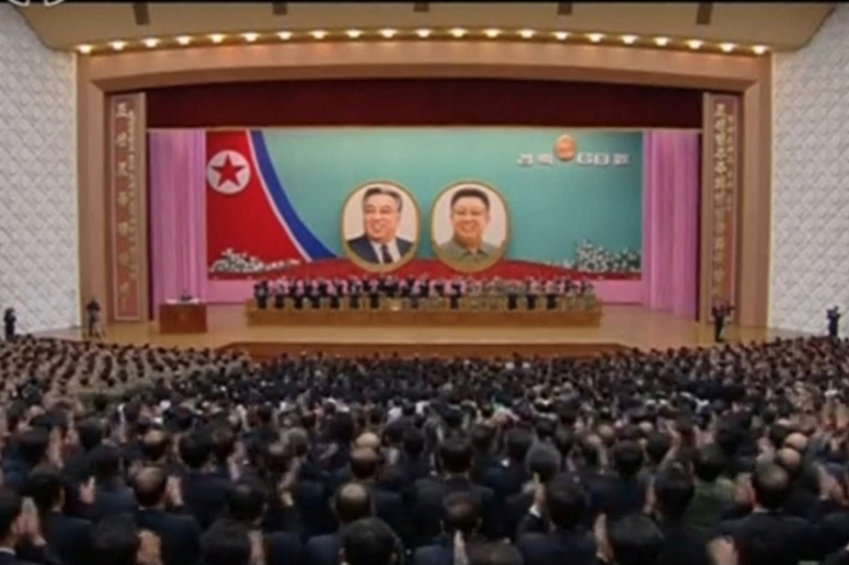 North Korean state-run television showed a gathering in Pyongyang marking the 68th anniversary of the founding of the nation on September 9 [KRT]