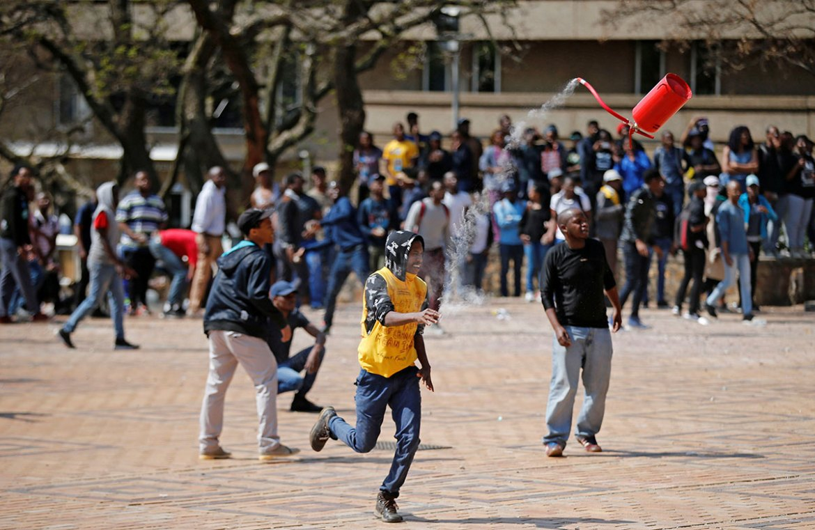 Blade Nzimande, South Africa's higher education and training minister, announced on September 19 that universities could increase fees for 2017 as long as they do not exceed the eight percent increase cap. [Siphiwe Sibeko/Reuters]