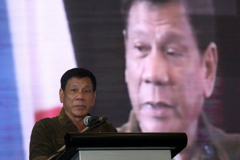 Duterte made the battle against illegal drugs one of main platforms during the elections [Reuters]