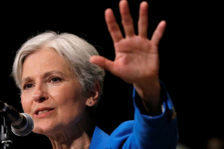 Stein polled little over one percent of the vote but a recount could swing the states over to Hillary Clinton [Reuters]