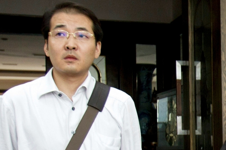 Human rights lawyer Xia Lin was sentenced in September to prison for 12 years in a move supporters say was designed to silence him [AP]