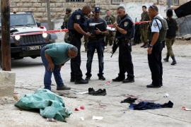 The Israeli military said the Palestinian man was shot dead after attacking a soldier with a knife [EPA]