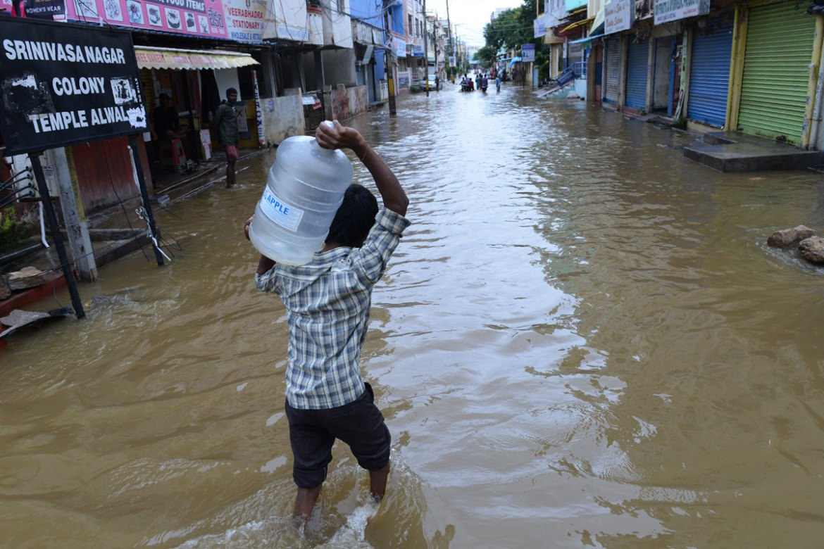 More torrential rain is expected across the Telangana over the next few days. [Noah Seelam/AFP]
