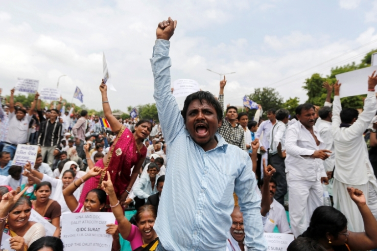 There have been increasing protests over the mistreatment of Dalits in India [Reuters]