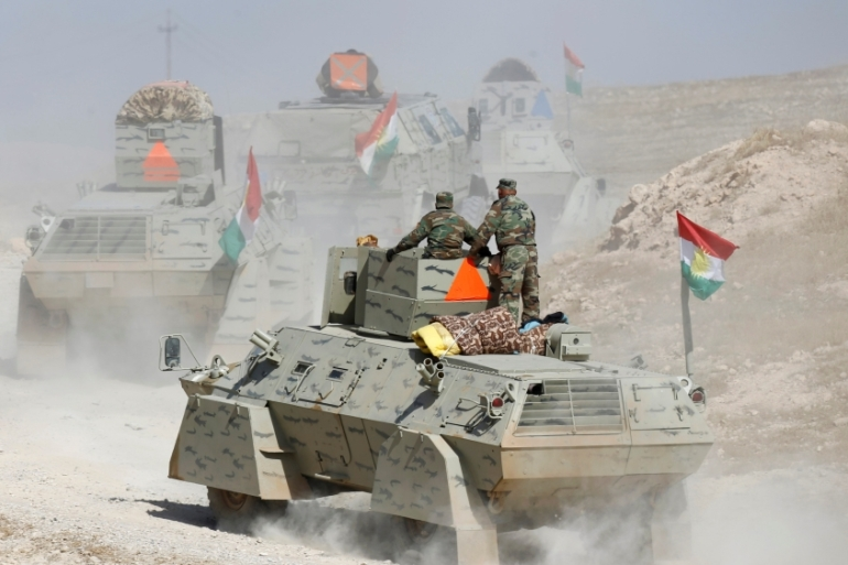 Peshmerga forces advance in the east of Mosul to attack ISIL fighters [Reuters]