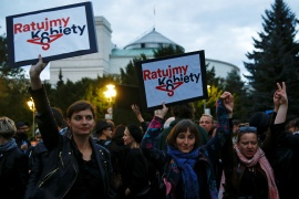 Poland's women on strike against abortion bill
