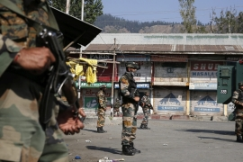 More than half a million members of the Indian security forces are deployed in Kashmir [EPA]
