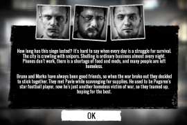 In November 2014, 11 bit studios released This War of Mine, a computer game set in a city under siege [Screen grab/This War of Mine/War Child]