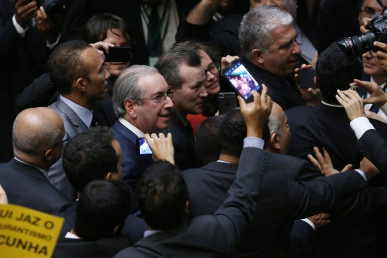 Cunha was arrested under an order issued by Judge Moro, who led the investigation into corruption scandals nationwide [Reuters]