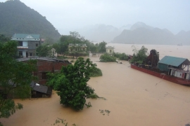 Floods hit Ha Tinh. At least 20 people are still missing after torrential rain and floods hit Vietnam northern provinces. [EPA]
