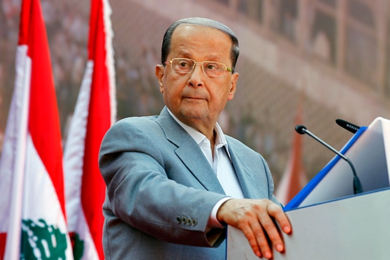 It has long been the formal policy of Aoun's Free Patriotic Movement party that Syrian refugees in Lebanon must return home [EPA]