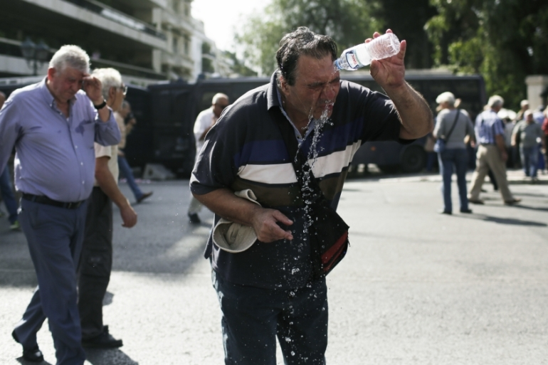 'The order has been given for any use of tear gas to be forbidden in protests by workers and pensioners' [AP]