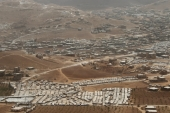 Syrian refugee camps dotted in and around the Lebanese town of Arsal, near the border with Syria, Lebanon [Reuters]