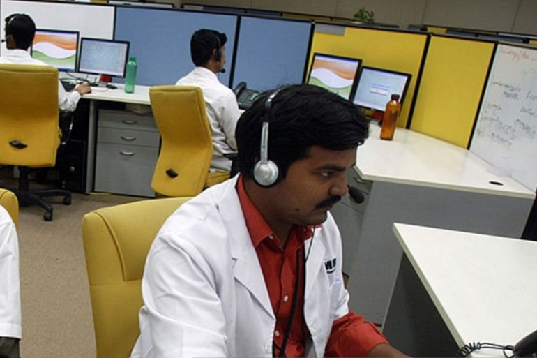 Thousands of call centres in India provide back-office services to European and US firms [Getty Images]