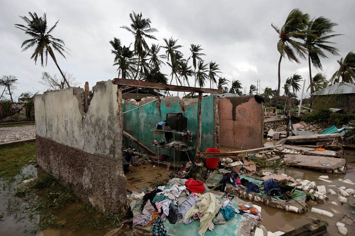 Matthew was downgraded early on Wednesday from a Category 4 storm on the five-step Saffir-Simpson scale of intensity, the US National Hurricane Centre said. [Andres Martinez Casares/Reuters]