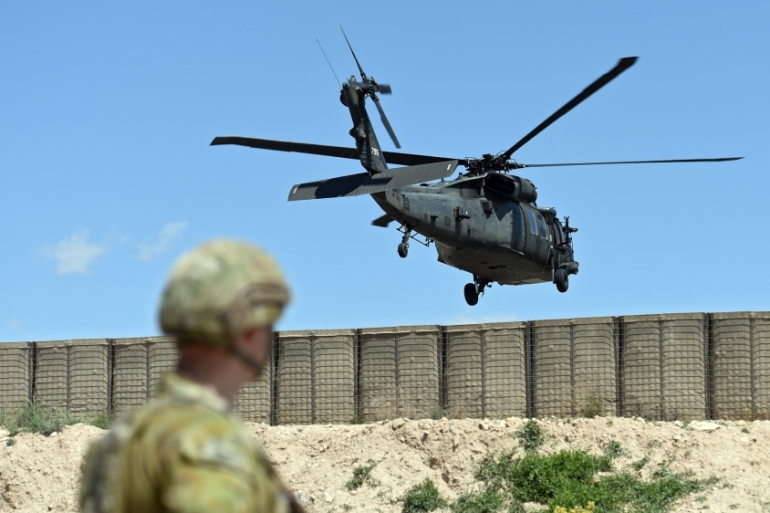 The Taliban issued a statement claiming responsibility for downing the helicopter [File:Paul Miller/EPA]