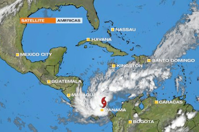 The slow moving storm is expected to dump vast amounts of rainfall across southern parts of Central America [Al Jazeera]