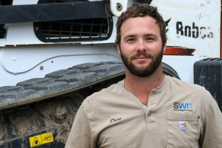 Drew Zimmerman works for a natural gas company in central Arkansas [Teresa Krug/Al Jazeera]