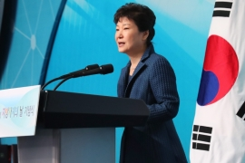 Public support for Park is at 5 percent, the lowest point ever for a democratically elected South Korean leader [EPA]