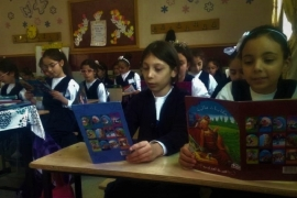 The average yearly reading period a child from an Arabic speaking country is six minutes [Sheren Khalel/Al Jazeera]