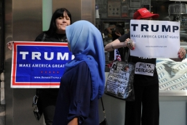 'The bottom line is that Trump's election is a slap on the face of American media which feeds on anti-Arab, anti-Muslim racism more than Donald Trump ever did.' [Stephanie Keith/Reuters]