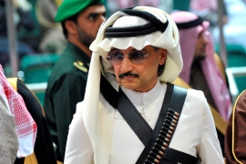 Prince Alwaleed bin Talal attends the traditional Saudi dance known as 'Arda' in 2014 [Fayez Nureldine/Reuters]