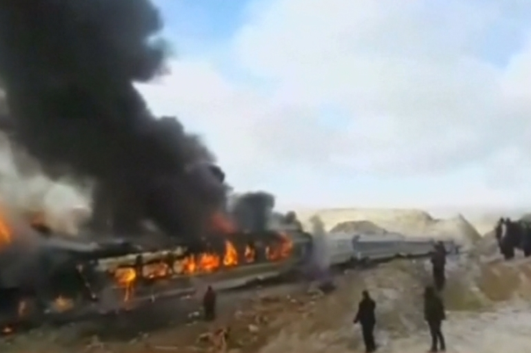 The crash occurred about 400km east of the capital Tehran [Reuters]
